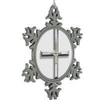 Cross Snowflake Ornament