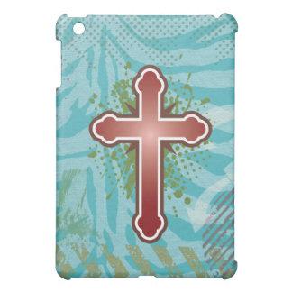 Cross soft knob red solid bg iPad mini cases