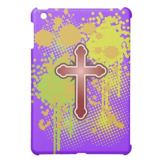 Cross soft knob red splash bg iPad mini cases