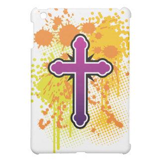 Cross soft knob splash bg iPad mini covers