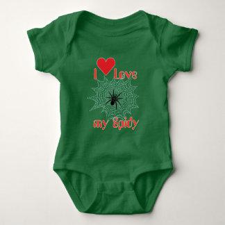 Cross spider in the net baby Body Baby Bodysuit