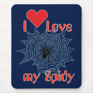 Cross spider in the net mouse pad