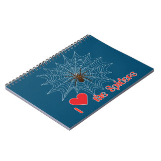 Cross spider in the net note booklet notebook