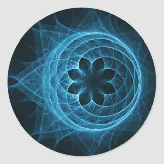 cross spiral ray sphere lotus classic round sticker