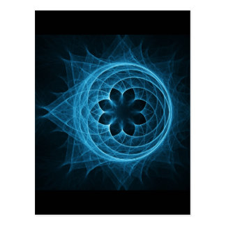 cross spiral ray sphere lotus postcard
