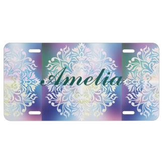 Cross,spiritual art,mandala,healing,energy,chakra, license plate