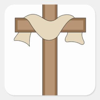 Cross Square Sticker