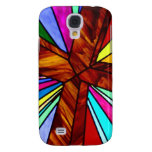 Cross stained glass detail photograph church galaxy s4 cover