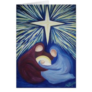 Cross Star Nativity Card