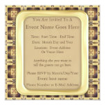 "Cross Stitch 5.25"" Square Invitation Card"