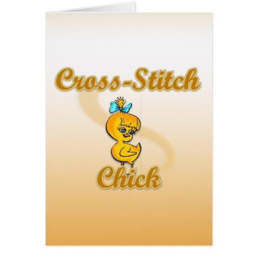 Cross-Stitch Chick Cards