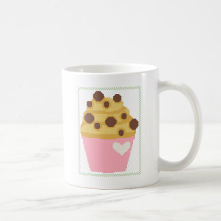 cross stitch chocolate chip muffin coffee mug