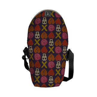cross stitch cross love courier bag