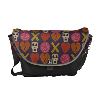 cross stitch cross love messenger bag