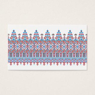 Cross-stitch design business card