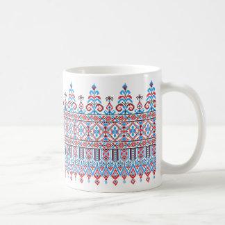 Cross-stitch design coffee mug