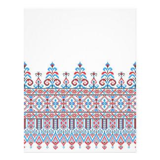 Cross-stitch design flyer