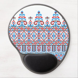 Cross-stitch design gel mouse pad