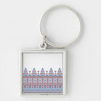 Cross-stitch design keychain