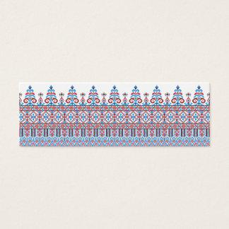 Cross-stitch design mini business card