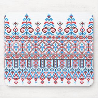Cross-stitch design mouse pad