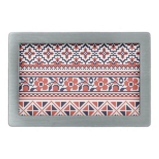 Cross-stitch design Patterns Belt Buckle