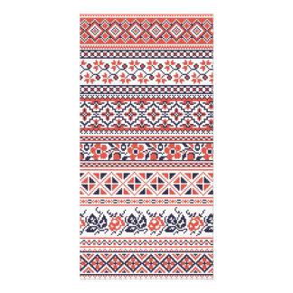 Cross-stitch design Patterns Card