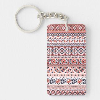 Cross-stitch design Patterns Rectangle Acrylic Key Chains