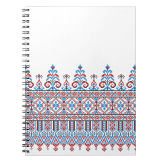 Cross-stitch design spiral notebook
