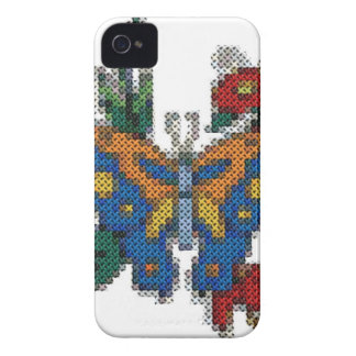 cross stitch embroidery butterfly iPhone 4 case