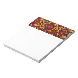 Cross Stitch Embroidery Pattern Notepad