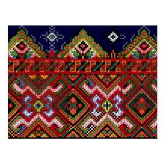 Cross Stitch Embroidery Postcard