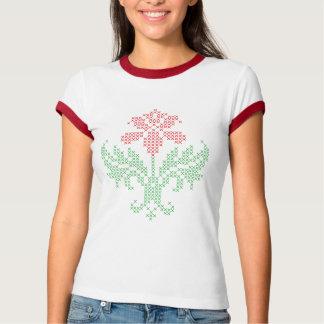 Cross stitch floral pattern T-Shirt