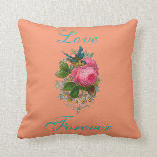 Cross Stitch Floral View Throw Pillow
