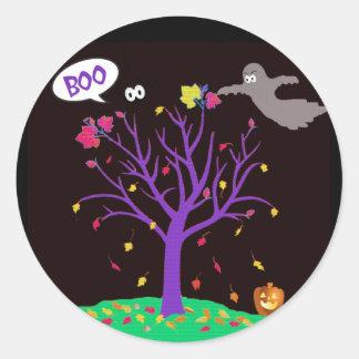 Cross-Stitch Halloween Stickers