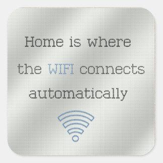 Cross Stitch Home WIFI Stickers