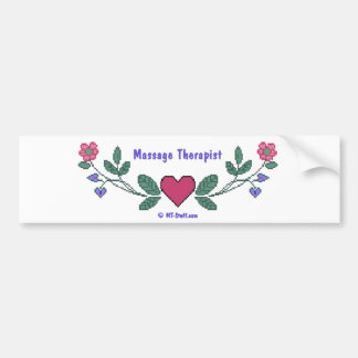 Cross Stitch M Therapist Bumper Sticker