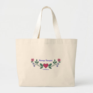 Cross Stitch M Therapist Large Tote Bag