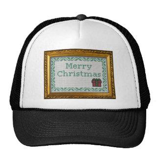 """Cross Stitch"" merry christmas Trucker Hat"