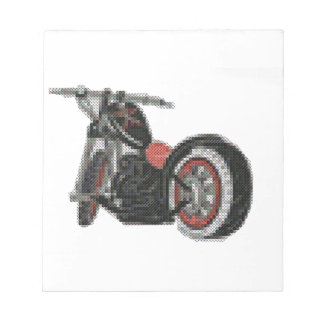 cross stitch motorcycle embroidery notepad
