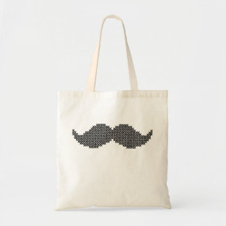Cross Stitch Mustache Cuteness! Tote Bag