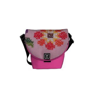 Cross Stitch Needlework Mini Messenger Bag