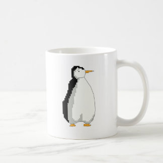 Cross stitch penguin coffee mug