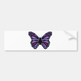 Cross stitch purple butterfly bumper sticker