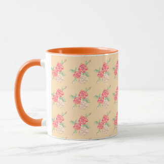 Cross stitch rose mug