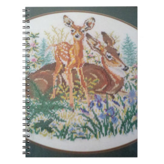 Cross-stitched Deer Blank Book