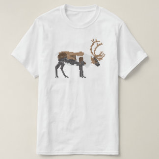 Cross stitched reindeer - ristipistoporo t shirt