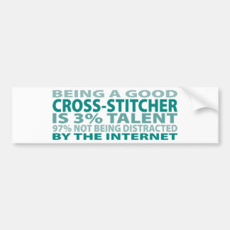 Cross-stitcher 3% Talent Bumper Sticker