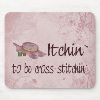 Cross Stitching Mouse Pad