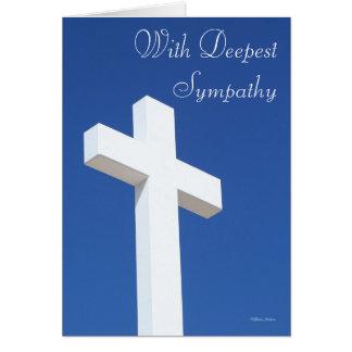 Cross Sympathy Card